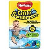Huggies Little Swimmers Disposable Swim pannolini, Confezione da 2 x 36 (72 pannolini totale), Taglia 3 - 4