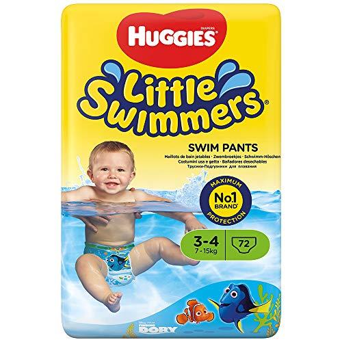Huggies Little Swimmers desechables pañales de nadar, tamaño 3–4–72pantalones total