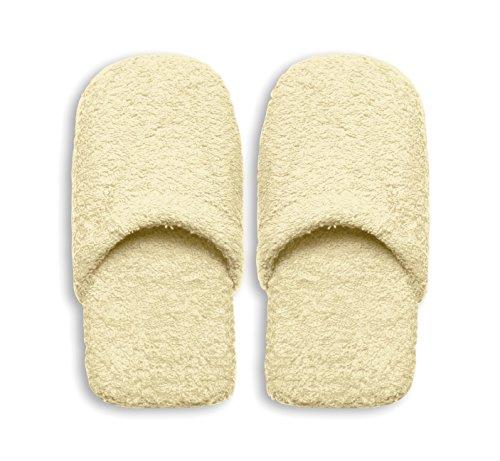 Excelsa Caldo Pantofole da Bagno Donna, Spugna, Crema, 27.5 x 11 x 3 cm