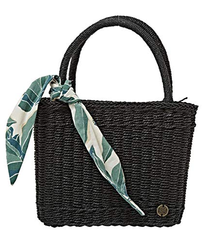 BILLABONG Rebel Heart Small Straw Bag Mochilas, Color: negro, Talla única para Mujer