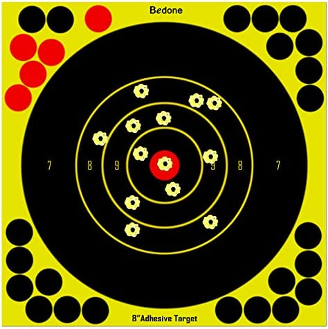 8 Inch Self Adhesive Shooting Targets 30 Pack Splatter Reactive Targets Visual Feedback Paper product image