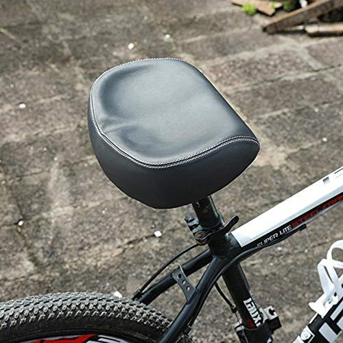 KUAQI Breiter Fahrradsattel Damen Herren, Geräumiger Fahrradsitz aus Leder, Weich Fahrradsitz ohne Nase Big Butt Sattel Stoßfestigkeit Kunststoff