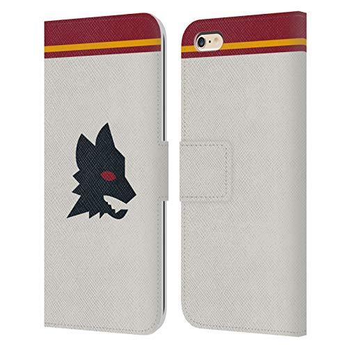 Head Case Designs Licenza Ufficiale AS Roma Fuori Casa 2020/21 Kit Crest Cover in Pelle a Portafoglio Compatibile con Apple iPhone 6 Plus/iPhone 6s Plus