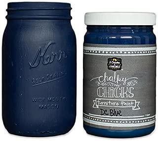 Chalk Finish Paint - Furniture & Cabinet Paint (32 oz, DC Blue)