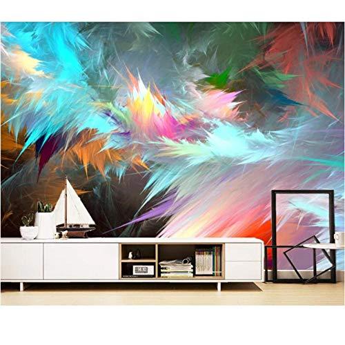Wuyii Veer-Art-behang wandschilderij Europese stijl voor woonkamer-slaapkamer-wand-decor-fotobehang 3D-afgewerkt bijzonder aan 120 x 100 cm.