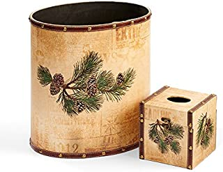Wild Wings Pinecone Wastebasket & Tissue Set by Persis Clayton Weirs