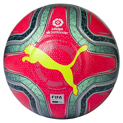 PUMA Unisex– Erwachsene LaLiga 1 (FIFA Quality Pro) Fußball, Pink Alert-Yellow Alert-Green Glimmer, 5