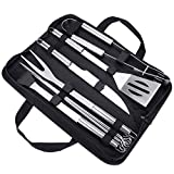 Achort BBQ Grill Tools Set Grill Kit 9pcs Barbecue Accessories Stainless Steel Grill