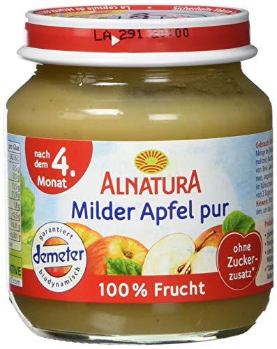 Alnatura Demeter Bio Milder Apfel pur, glutenfrei, 6er Pack (6 x 125 g)