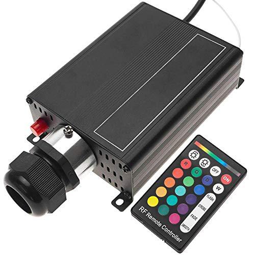 BeMatik - Fuente de luz LED iluminador para Fibra óptica 1x16W RGB 25 mm RF