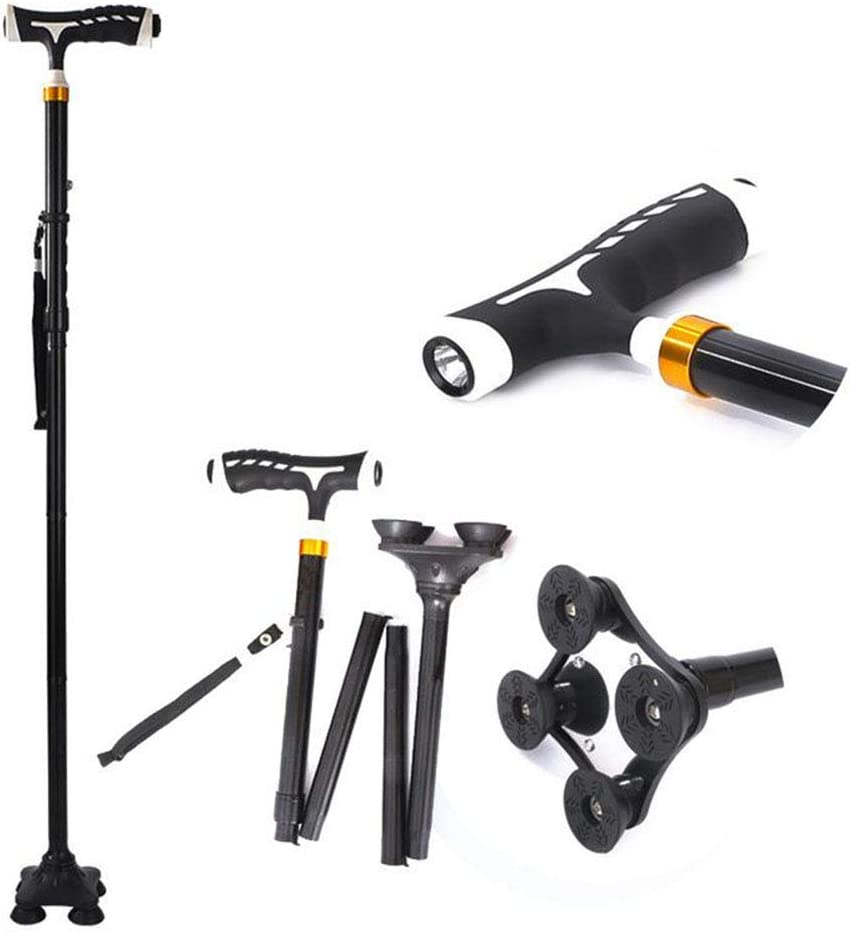 Folding Cane for Parents with LED Terain Attention brand Quad 5 ☆ very popular Base Light All Adj