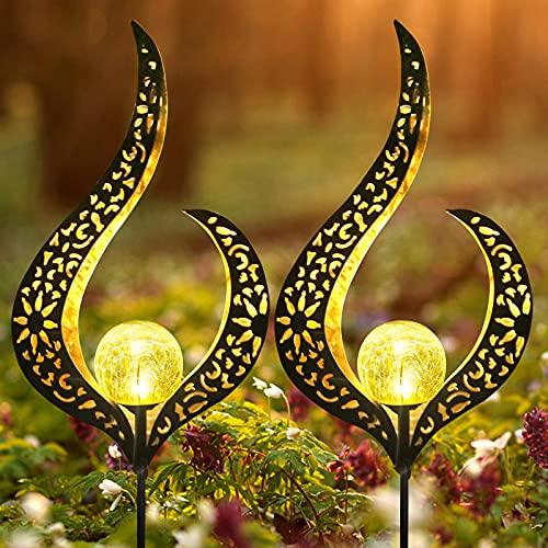 LUOWAN Lampes Solaires De Jardin Avec Solar Flame...