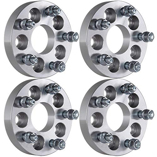 OCPTY 4PCS 1'(25mm) 5x100 to 5x112 Wheel Spacers Adapters 57.1mm CB with 12x1.5 Studs Compatible with VOLKWASGEN Fox Golf 4 New Beetle for Audi A3 8L