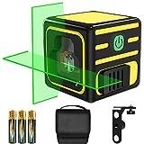 Nivel láser, papasbox 20M Nivelador Láser Horizontal y Vertical, Nivel láser autonivelante de con modo Manual, Soporte Giratorio...