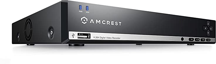 Amcrest 960H 16CH Video Security System - 960H DVR with 16 Channels, 1TB HD (Upgradable) for 6 Days of HD Recording (30+ Days at Lower Resolution Settings), USB Backup Feature (Renewed)