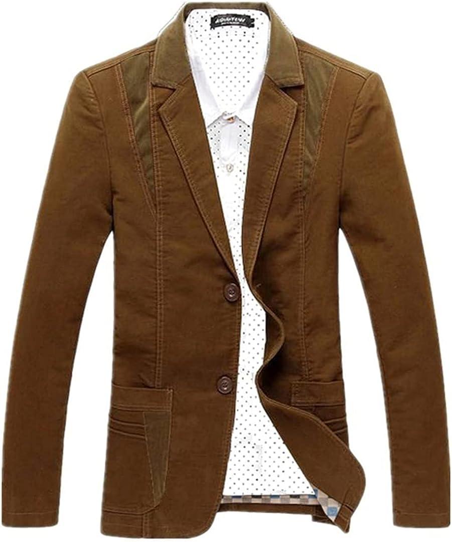 Mens Casual Blazer Oversize Coat Suit Jacket Blazer Slim Fit Clothing