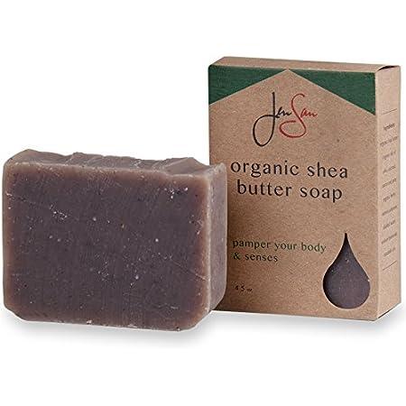 JenSan Lavender Oatmeal Exfoliating and Moisturizing Natural Organic Shea Butter Soap Bar - Handmade