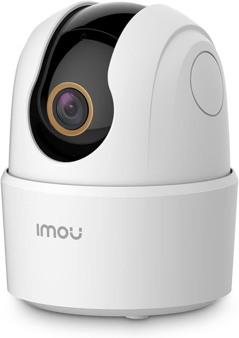 Imou 4MP Telecamera Wi-Fi Interno Videocamera Sorveglianza 2K+, Rilevamento Umano, Audio Bidirezionale, Tracciamento di Movimento con Sirena, Compatibile con Alexa, Rotazione a 360°, 2,4Ghz Ranger 2C