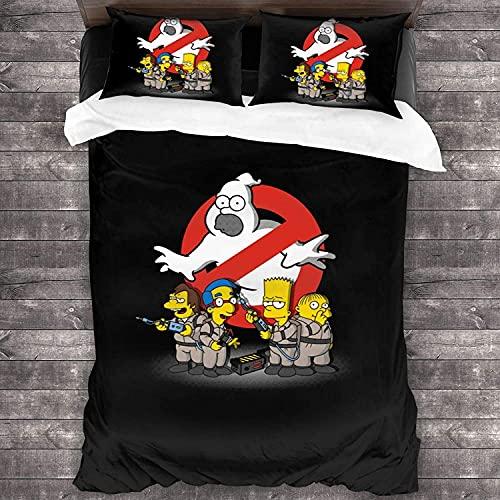 AQEWXBB Il set di 3 federe per cuscini trapuntati di Simpsons Boutique offre ai bambini e agli adulti un'esperienza di alta qualità (S1,140 x 210 cm + 80 x 80 cm x 2)