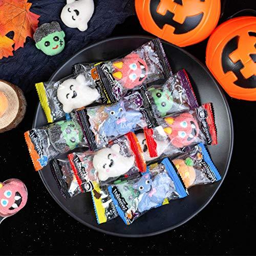 XJDMG Halloween Candy Bulk Pumpkin Head Handmade Cute Little Marshmallow Creative Funny Gift Snack Horror Fudge-Halloween Marshmallow 500g [About 45 per Catty] -  9868694785433