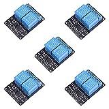 Electrely 5Pacchi Modulo Relè a 2 Canali 5V con Accoppiatore Ottico per Arduino Raspberry Pi (Blu)