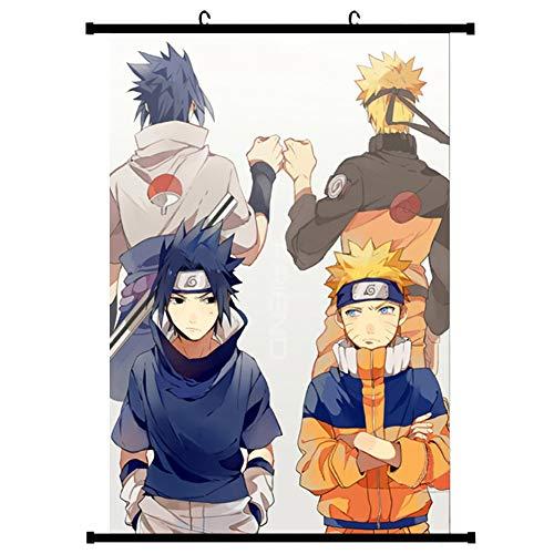cluis Naruto Shippuden - Póster de tela para decoración de pared, diseño de animales de Kakashi Uchiha Itachi, trapo, estilo 1, M: 40X60CM