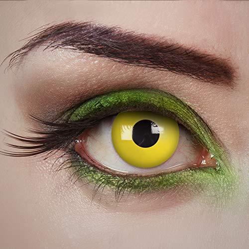 aricona Kontaktlinsen Tageslinsen - Yellow Fear - Kontaktlinsen farbig - Gelb