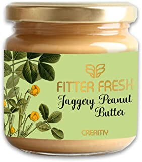 FITTER FRESH Creamy Peanut Butter with Organic Jaggery Ayurvedic Absorption Science for digesting high Protein | No Preser...