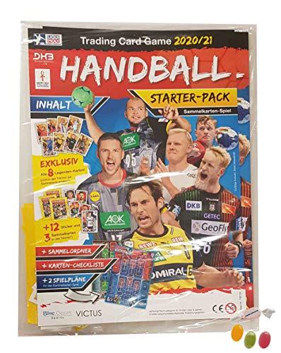 Blue Ocean Victus Handball Sticker 2020/2021 - 1x Starterpack inkl. 8X Legenden Cards & 3X Stickertüten Saison 20/21 zusätzlich 1 x Sticker-und-co Fruchtmix Bonbon