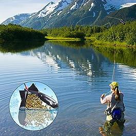 SDGDFXCHN Nouveau Carpe appâts de pêche roquettes Lance-conteneurs Lanceur Lanceur système de Lance-Pierres pour l'alimentation des Poissons