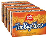 JOLLY TIME The Big Cheez Gourmet Cheddar Cheese Microwave Popcorn (3-Count Box, Pack of 4)