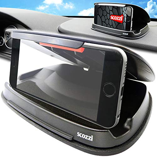 scozzi Handyhalterung Auto Armaturenbrett rutschfest Handy KFZ Halterung Halter universal (kompatibel mit Samsung,iPhone,Huawei) S21 S20 S10 S9 A71 A51 M51 P40 12 11 X XS XR 8 Plus Ultra Lite Mini Pro