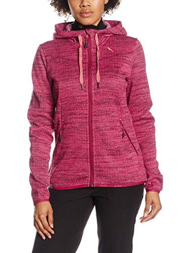 Salewa Fanes Pl W FZ Sweat-Shirt, Femme, 00-0000025664_50/44 (XXL), Rouge (Oignon), 50