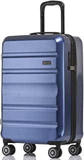 QANTAS Melbourne 56cm Wheelaboard Carry-on, (Blue), (QF970-56-B)