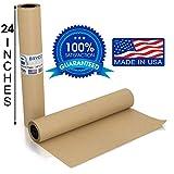 Brown Kraft Butcher Paper Roll - LONG 24 Inch x 175 Feet (2100 Inch) - Food Grade FDA Approved –...