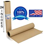 Kraft Butcher Paper roll - Long 24 inch x 175 feet (2100 inch) - Great Smoking Wrapping Paper for Meat of All Varieties… 2