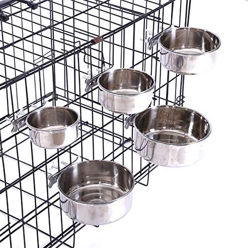 CHICAN Dog hanging bowl, medium stainless steel box and cage for dog hanging bowl, dog food bowl and water bowl(M-16cm)
