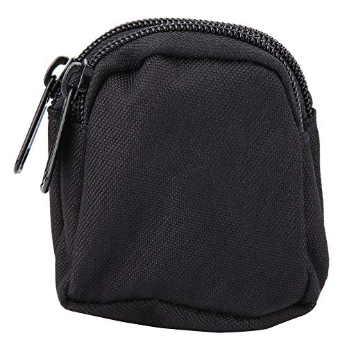 Dgtrhted Sport Mini Fashion Bag Nylon imperméable extérieure Pochette de Rangement Portable (Noir)