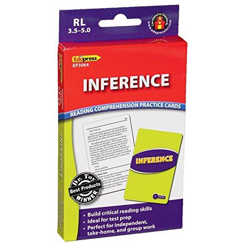 Edupress lecture Compréhension Practise Cartes, Inference Niveau, Bleu (Ep63064)