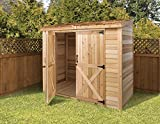 Cedarshed Shed 8 x 4 ft. Bayside Wood Storage Shed