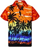 V.H.O. Funky Hawaiihemd, Kurzarm, Beach, orange, M