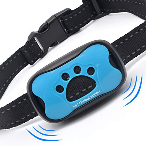 MK Global Bark Collar – Barking Dog Deterrent for Small,Medium,Large Dogs Vibration and Sound Mode - Humane Dog Barking Control Device No Shock Training Collar