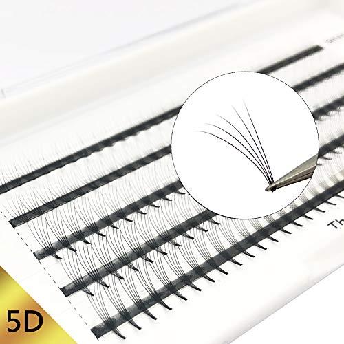Wimpern Extensions 5D 0.07mm C Curl Russische Wimpern Extensions Individuell Cluster Wimpernverlängerung Mixed Tray 5D vorgefertigten Volumen Wimpernfans für die Schönheit von Obeya