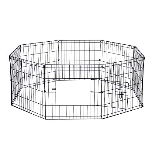 Paws & Pals Pet Exercise Pen Tube Gate with Door