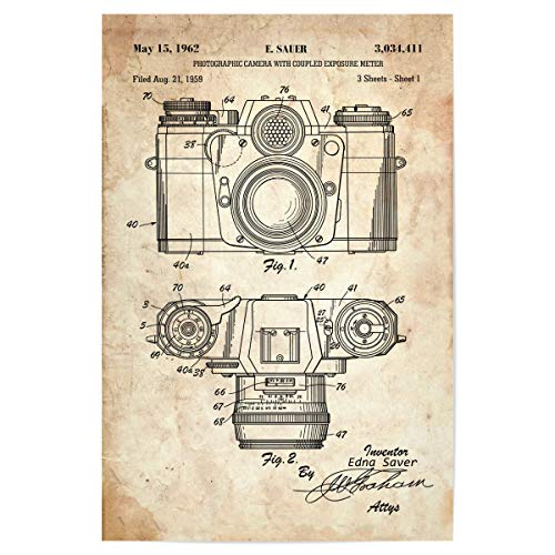artboxONE Poster 30x20 cm Film Vintage Fotoapparat II (Antik) - Bild antike fotoapparat fotoapparat Kamera