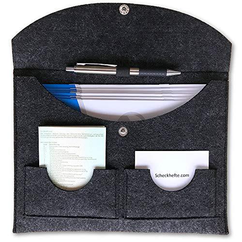 Lobsing Dokumentenmappe/Bordmappe - edle Dokumententasche für DIN A5 Dokumente | inkl. Stifthalter und 2X Kartenfach | auch als Bordbuch für Fahrzeugpapiere im Auto