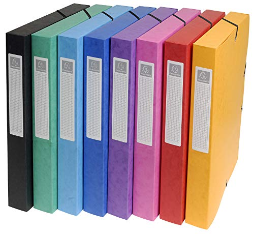 Exacompta 50300E - Pack de 8 carpetas de proyecto, Multicolor 🔥