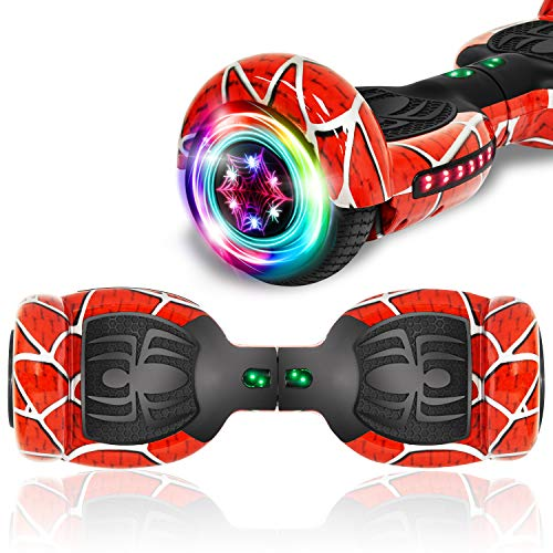 """TPS 6.5"""" Chrome Hoverboard Electric Self Balancing Scooter with Bluetooth LED Lights UL2272 Certified (Chrome Purple)"""