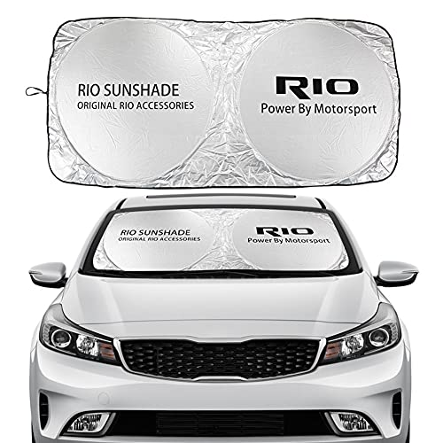 Parabrisas de Coches Cubierta de Sombra Solar Compatible con Kia Picanto Rio Seltos Sorento Soul Sportage Stinger Telluride Venga, Visores de la Ventana Delantera Parasoles (Color : For Rio)