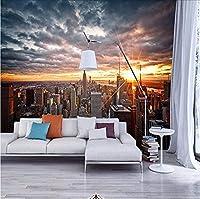 Djskhf カスタム写真の壁紙ニューヨーク市の風景アート写真壁画の背景寝室のリビングルームの壁3D壁画の壁紙 200X140Cm